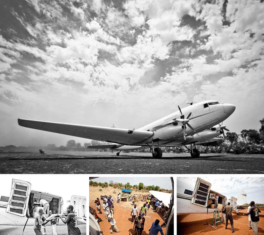 The Samaritans Purse DC-3 bring supplies for SIM SUDAN - by Lane A. Davis